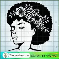 Woman Birthday SVG, Beautiful Hair SVG, Afro Woman SVG