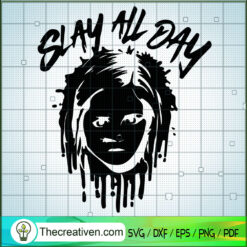 Slay All Day SVG, Chucky Horror SVG, Horror Characters SVG