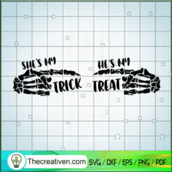 She's My Trick He's My Treat SVG, Trick Or Treat SVG, Halloween SVG