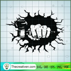 Smashing Wall Marijuana Pipe SVG, Smoking SVG, Pipe SVG