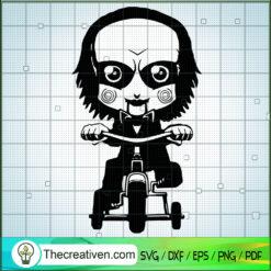 Jig Saw Ride Bicycle SVG, Horror Movie SVG, Halloween SVG