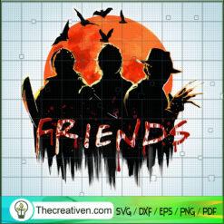 Tripple Friends Horror SVG, Horror Movie SVG, Halloween SVG