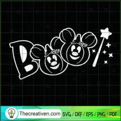 Boo Pumpkin Mickey Mouse SVG, Disney Mickey Mouse SVG, Hallowen SVG