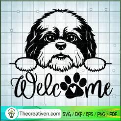 Shih Tzu Welcome SVG, Dogs SVG, Pet Lover SVG