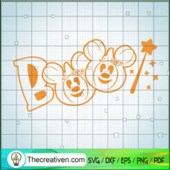 Boo Mickey Mouse SVG, Disney Mickey Mouse SVG, Halloween SVG