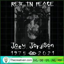 Rest In Peace Joey Jordison SVG, Joey 1875 2021 SVG, R.I.P Joey SVG
