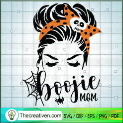 Boojie Mom SVG, Halloween SVG, Mom Skull SVG