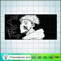 Yuji Itadori SVG, Jujutsu Kaisen SVG, Anime Cartoon SVG