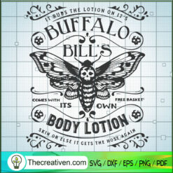 Buffalo Bill Body Lotion SVG, Buffalo Skull SVG, Halloween SVG