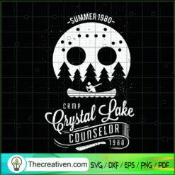 Crystal Lake Counselor SVG, Camping SVG, Camping Summer SVG