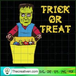Trick Or Treat Frankenstein SVG, Trick Or Treat SVG, Halloween SVG