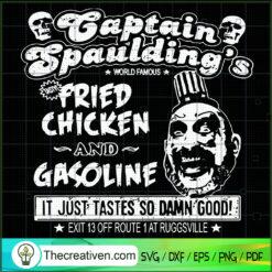 Captain Spaulding SVG, Fried Chicken SVG, Halloween SVG