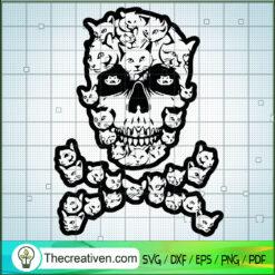Skull Cat SVG, Skull SVG, Cat Horror SVG
