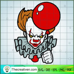 Pennywise SVG, Halloween SVG, Horror Characters SVG