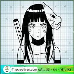 Hyuga Hinata SVG, Naruto Wife SVG, Anime Japan SVG