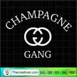 Champagne Gang Gucci SVG, Gucci SVG, Luxury Brand SVG