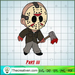 Jason Voorhees Chibi SVG, Horror Character SVG, Horror Movie Halloween SVG