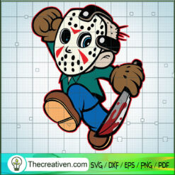 Jason Voorhees Chibi SVG, Horror Character SVG, Halloween Horror Movie SVG