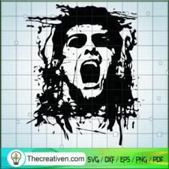 Zombie Face SVG, Scary SVG, Halloween SVG