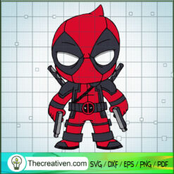 Deadpool Chibi SVG, Marvel SVG, Deadpool SVG