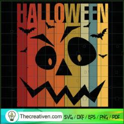 Halloween Pumpkin Vintage SVG, Pumpkin SVG, Vintage Halloween SVG