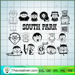 South Park SVG, South Park Characters SVG, Satirical Animated TV Show SVG