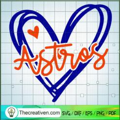 Houston Astros Heart SVG, Sports SVG, MLB SVG