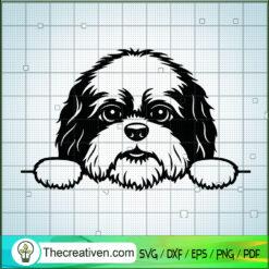 Peeking Shih Tzu SVG, Shih Tzu Dog SVG, Pet Lover SVG