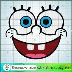 SpongeBob Faces SVG, SpongeBob SVG, Sponge Out of Water SVG