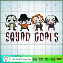 Squad Goals Horror Characters SVG, Cute Horror Characters SVG, Halloween SVG
