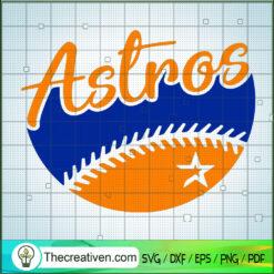 Houston Astros Team SVG, Sports SVG, MLB SVG