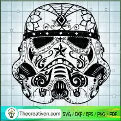 Stormtrooper Head Pattern SVG, Star Wars SVG, Stormtrooper SVG