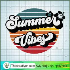 Summer Vibes SVG, Retro Summer Logo SVG, Summer Time SVG