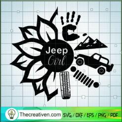 Jeep Girl SVG, Jeep Flower SVG, Jeep SVG