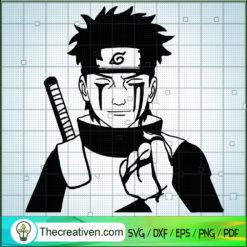 Uchiha Shisui Cry Blood SVG, Naruto Cartoon SVG, Anime Japan SVG