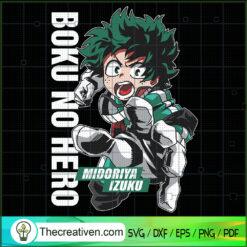 Boki No Hero SVG, Midoriya Izuku SVG, My Hero Academia SVG