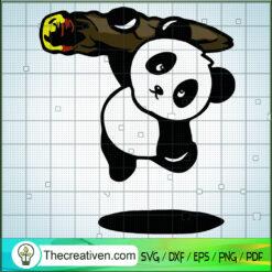 Panda Swing The Tree SVG, Panda SVG, Animals SVG
