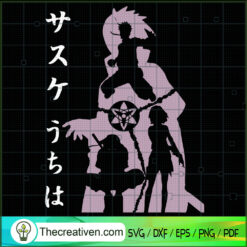 Naruto Sasuke Uchiha SVG, Naruto Characters SVG, Anime Cartoon SVG