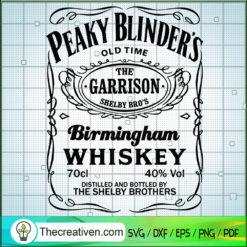 Birmingham Whiskey Logo SVG, Peaky Blinder SVG, The Garrison Shelby Bro's SVG