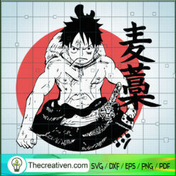 Monkey D.Luffy Circle Poster SVG, Luffy SVG, One Piece SVG