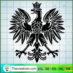Polish Eagle SVG, Poland Coat Of Arms White Eagle SVG, Eagle SVG