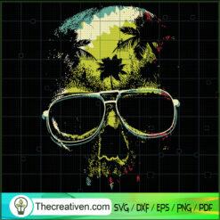 Skull Chill Vibes SVG, Skull SVG, Holiday SVG