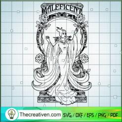 Maleficent Witch SVG, Disney Witch SVG, Halloween SVG