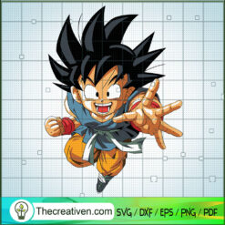 Goku SVG, Goku Strike Out SVG, Dragon Ball Z SVG