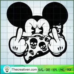 Hiphop Mickey SVG, Mickey Middle Finger SVG, Disney Mickey SVG