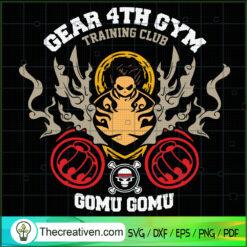 Gear 4th Gym Training Club SVG, Gomu Gomu SVG, One Piece SVG