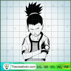 Nara Shikamaru SVG, Naruto SVG, Anime Manga SVG
