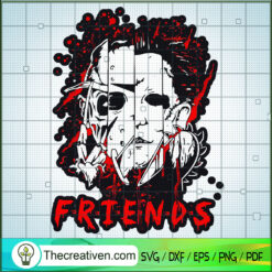 Horror Face Quartern SVG, Horror Characters SVG, Halloween Friends SVG