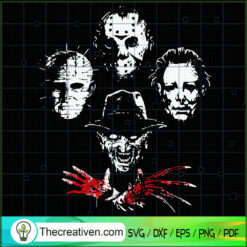 Halloween Horror Movies Characters Face SVG, Halloween Horror SVG, Horror Characters SVG