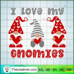 I Love My Gnomies SVG, Gnomes Heart SVG, Valentine SVG